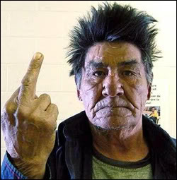 angry american indian